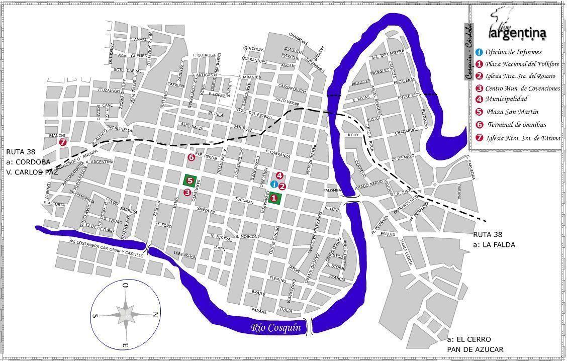 Mapa de Cosquin