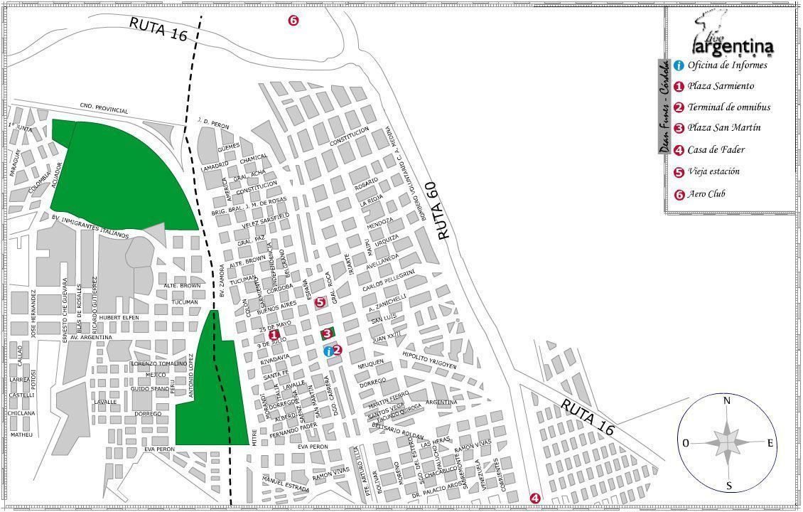 Mapa de Dean Funes