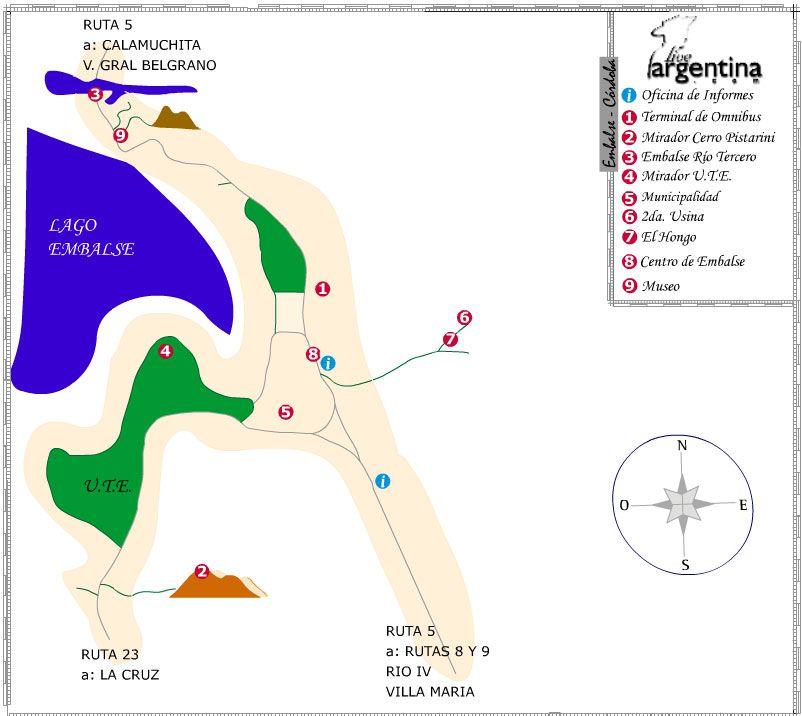 Mapa de Embalse