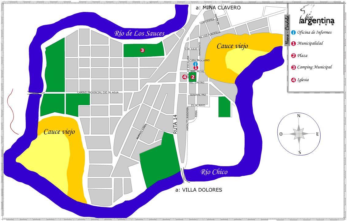Mapa de Nono