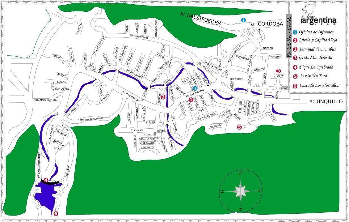 Mapa de Río Ceballos