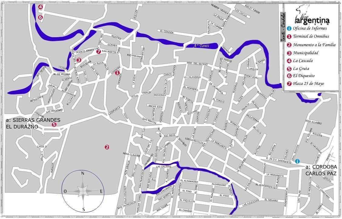 Mapa de Tanti