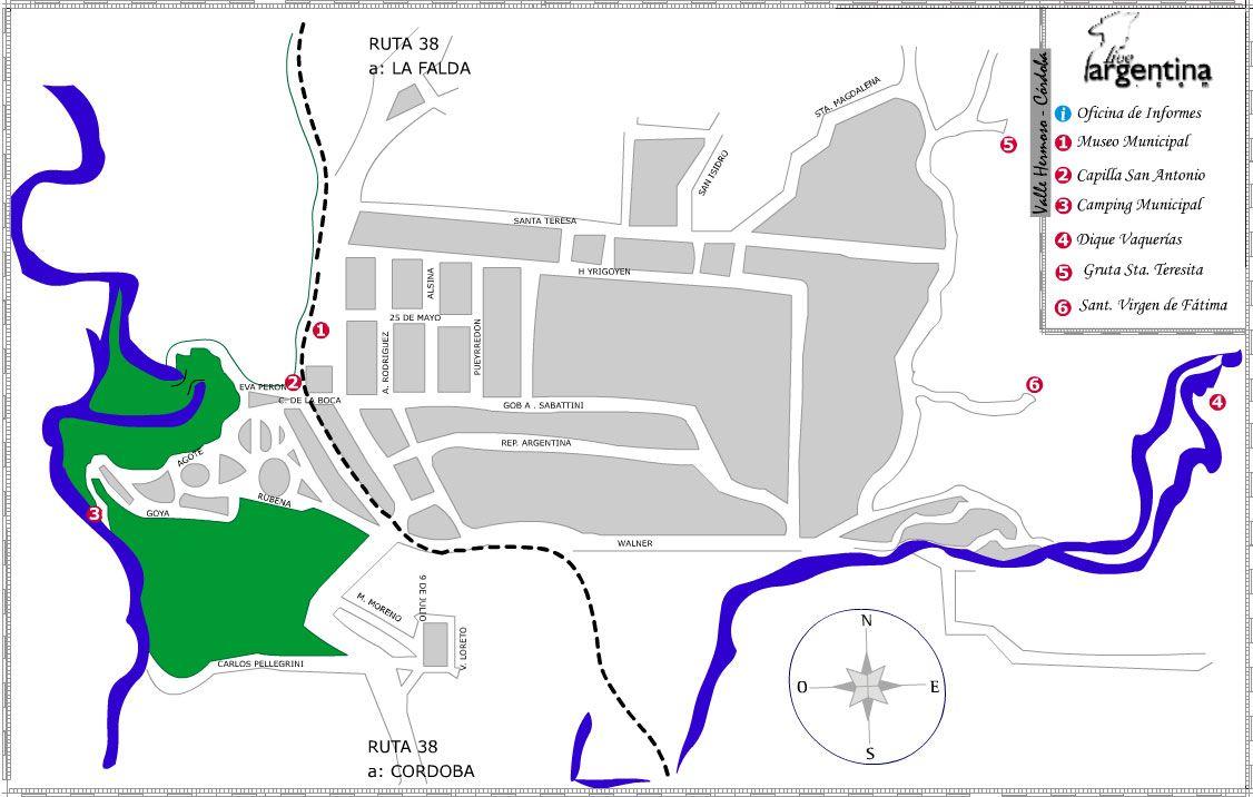 Mapa de Valle Hermoso