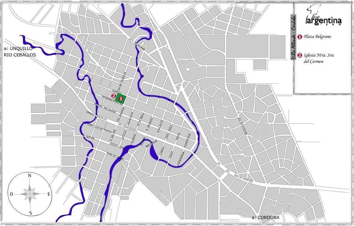 Mapa de Villa Allende