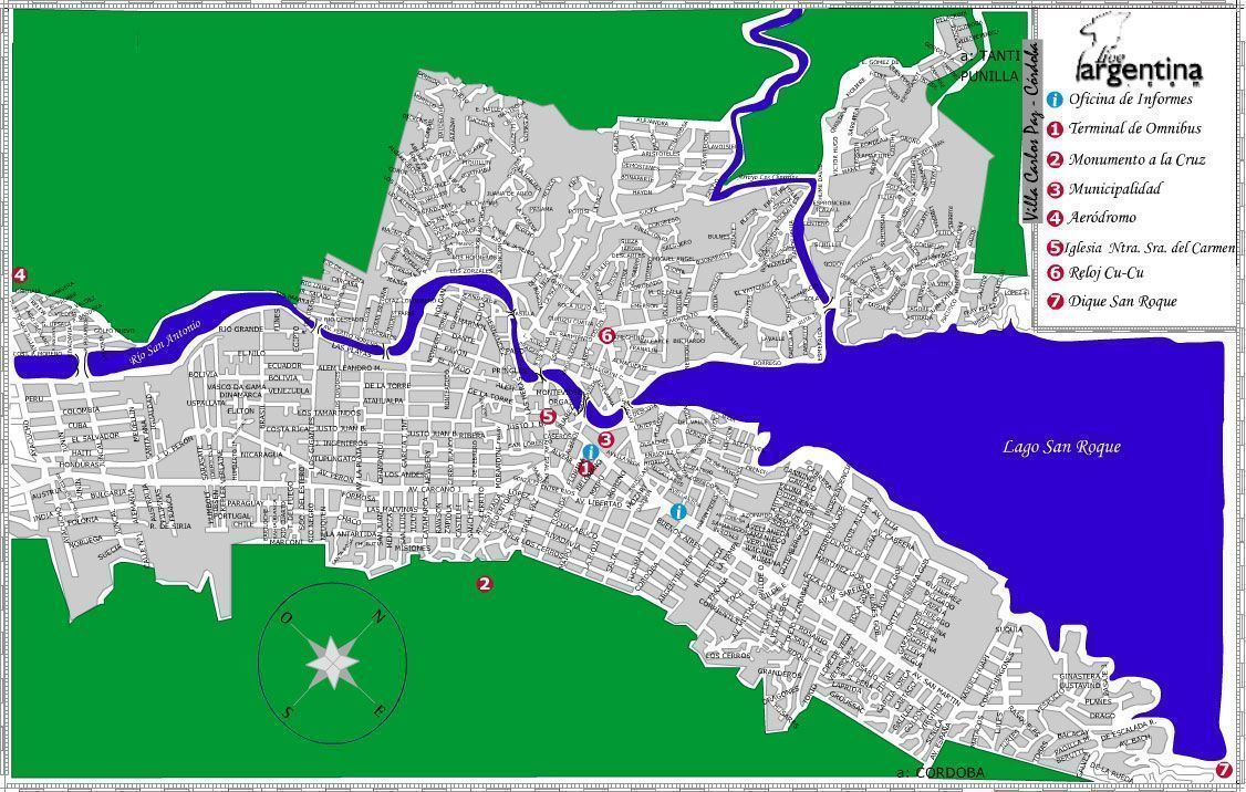 Mapa de Villa Carlos Paz