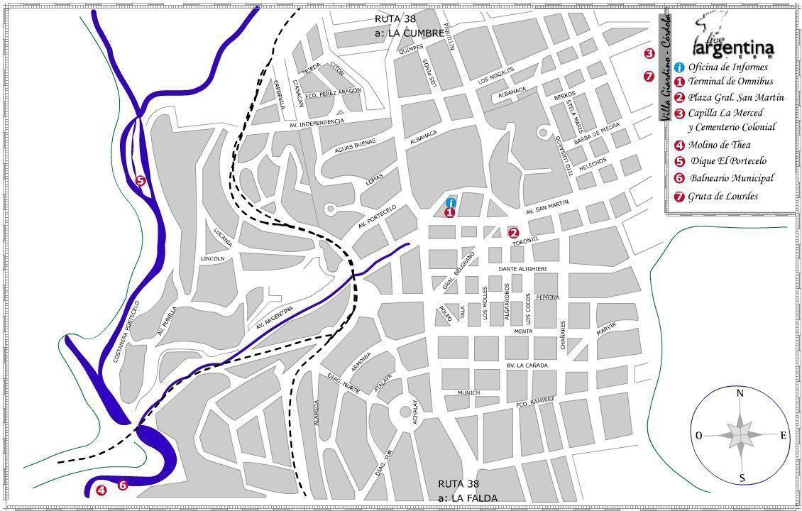 Mapa de Villa Giardino