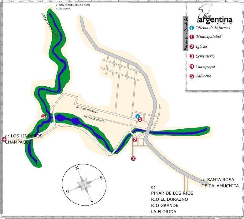 Mapa de Villa Yacanto