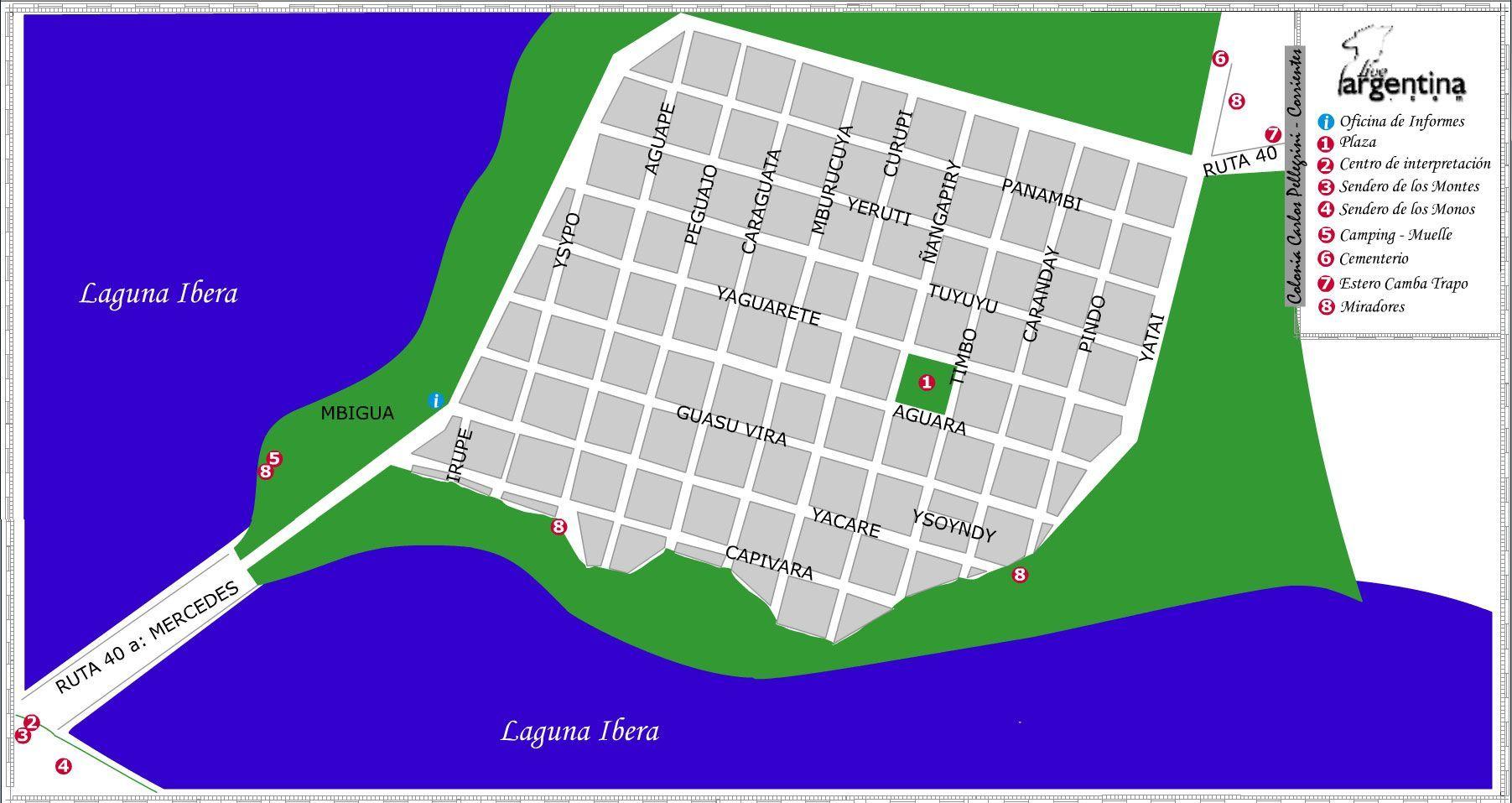 Mapa Colonia Carlos Pellegrini