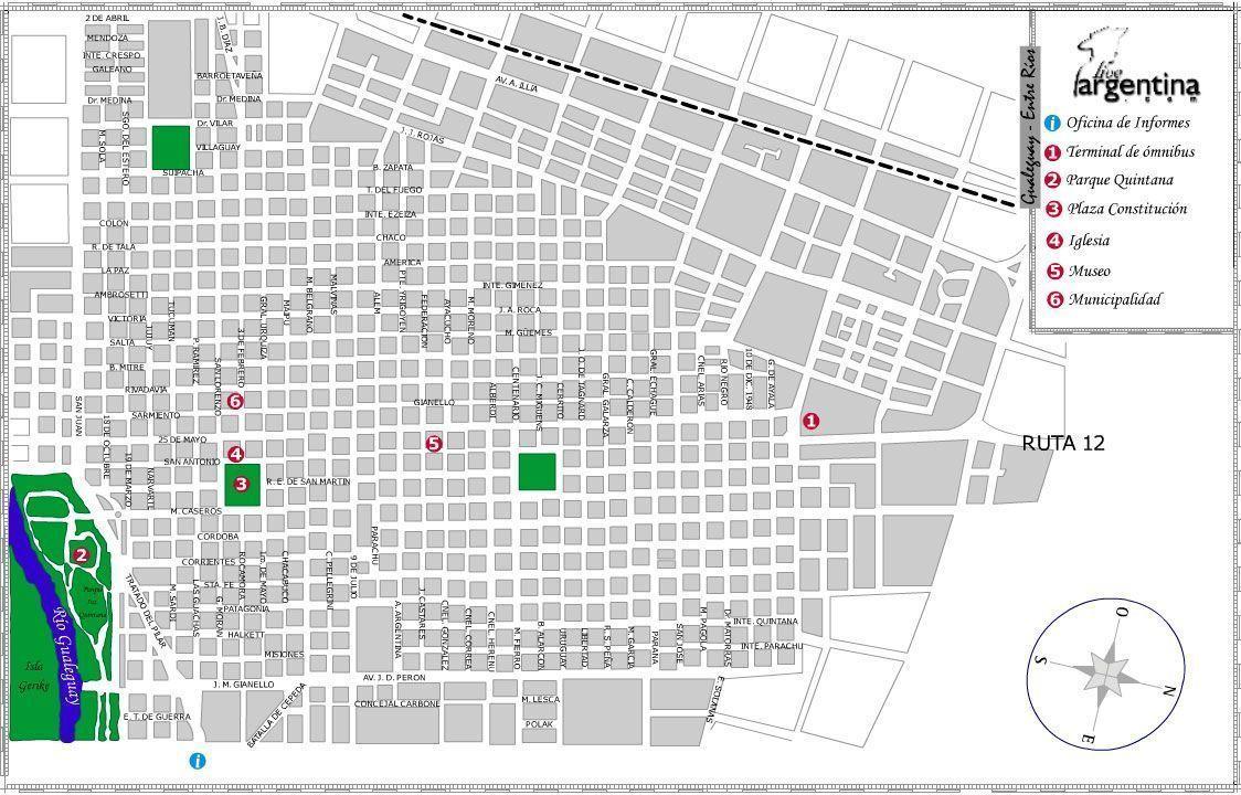 Mapa de Gualeguay