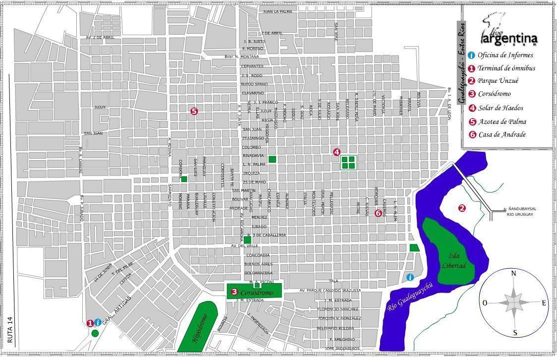 Mapa de Gualeguaychu