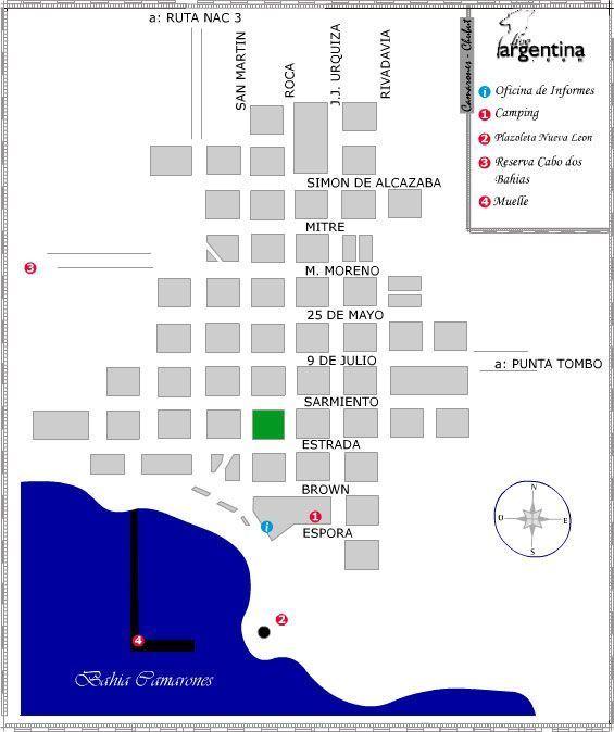 Mapa de Camarones