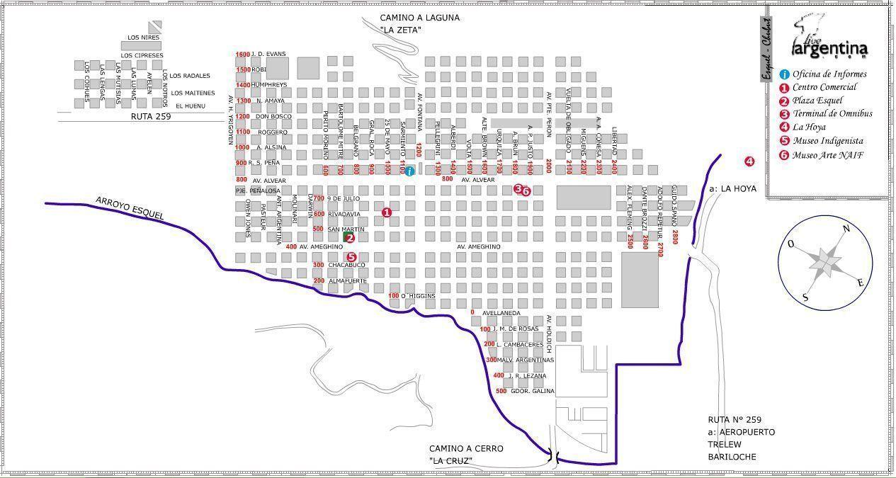 Mapa de Esquel