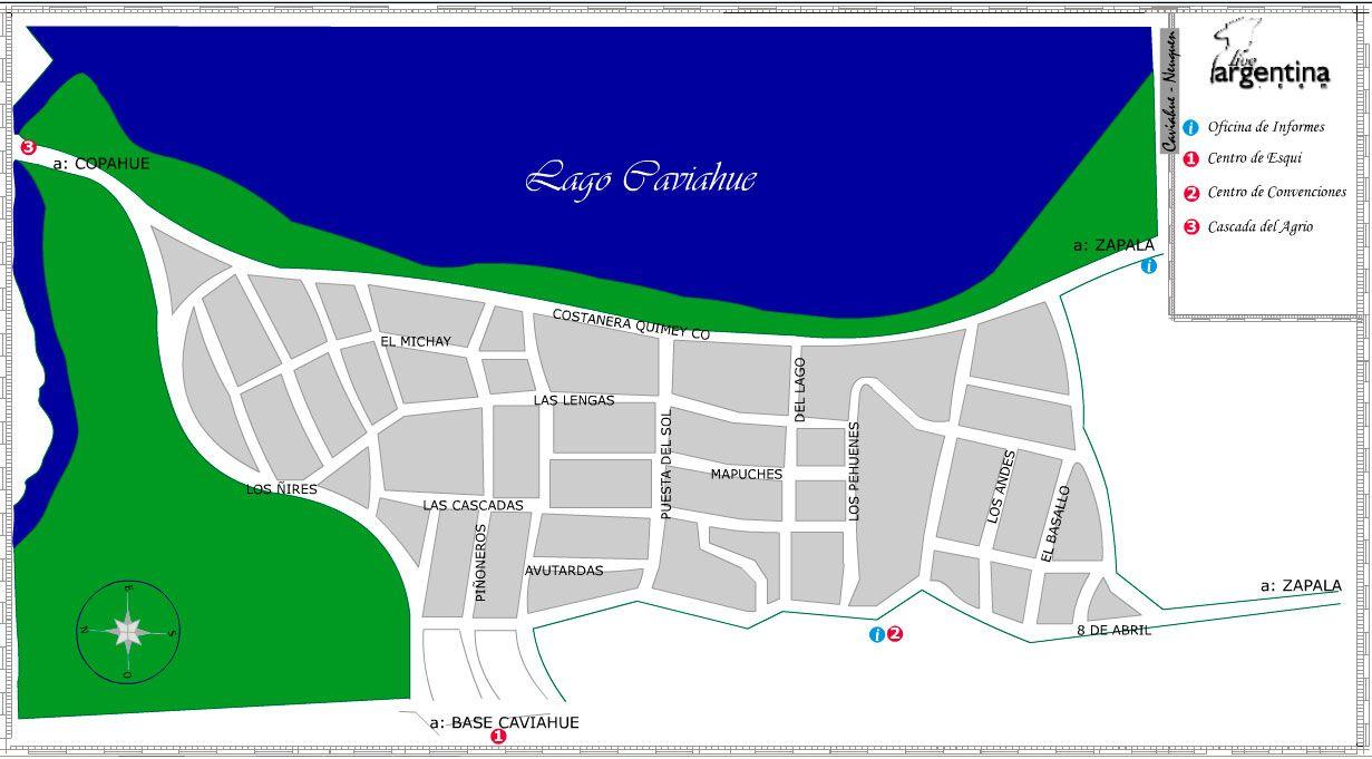 Mapa de Caviahue