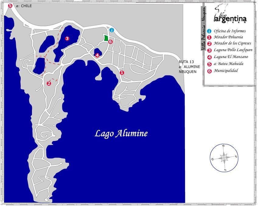 Mapa de Villa Pehuenia
