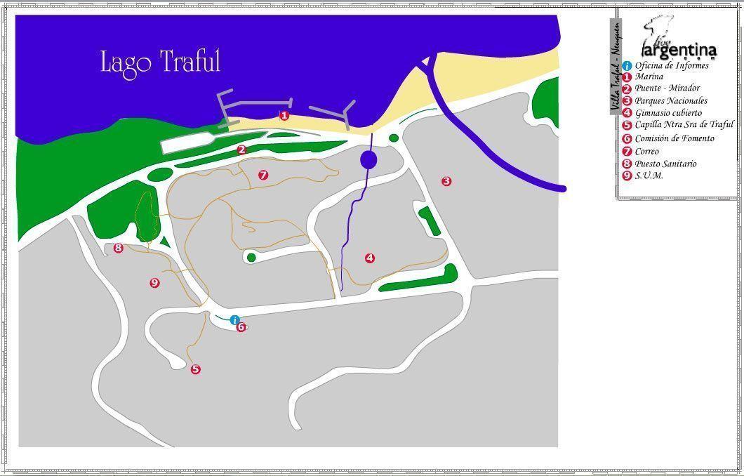 Mapa de Villa Traful