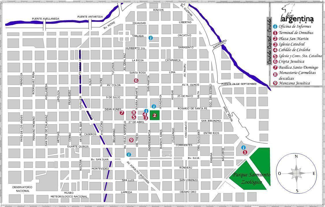 Mapa de Cordoba