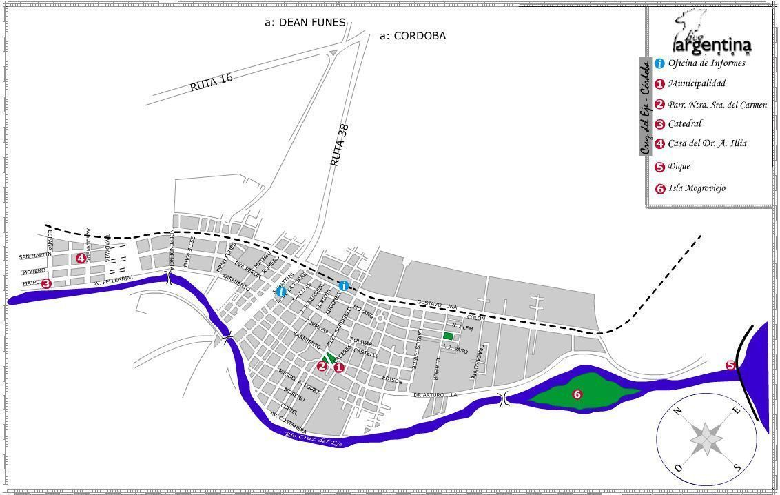 Mapa de Cruz del Eje