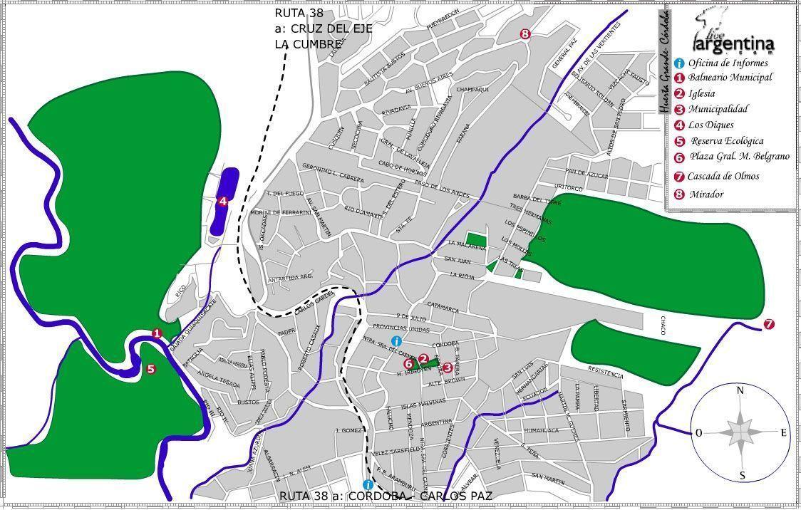 Mapa de Huerta Grande