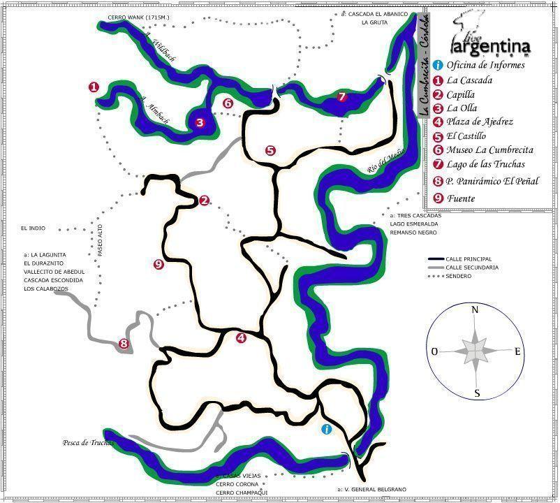 Mapa de La Cumbrecita
