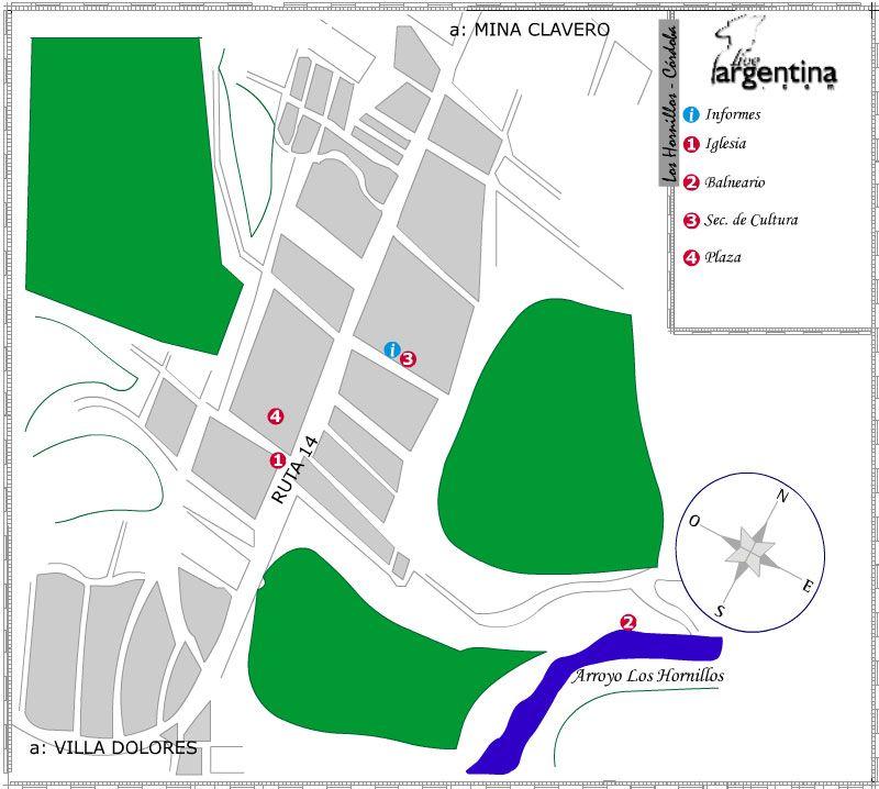 Mapa de Los Hornillos