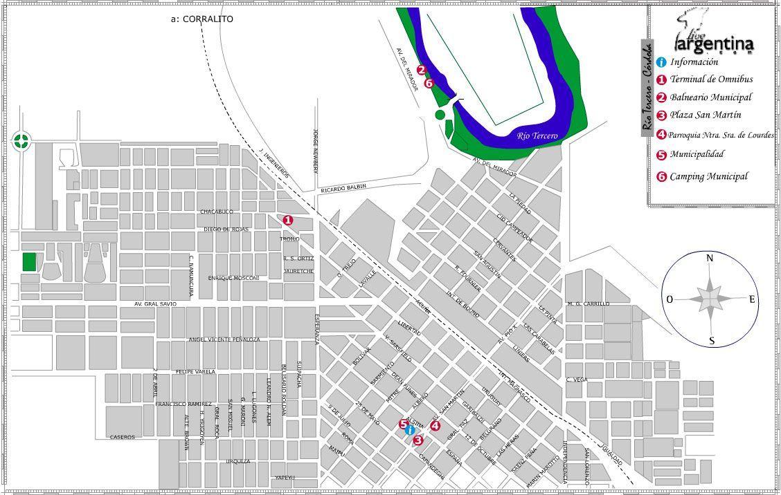 Mapa de Río Tercero