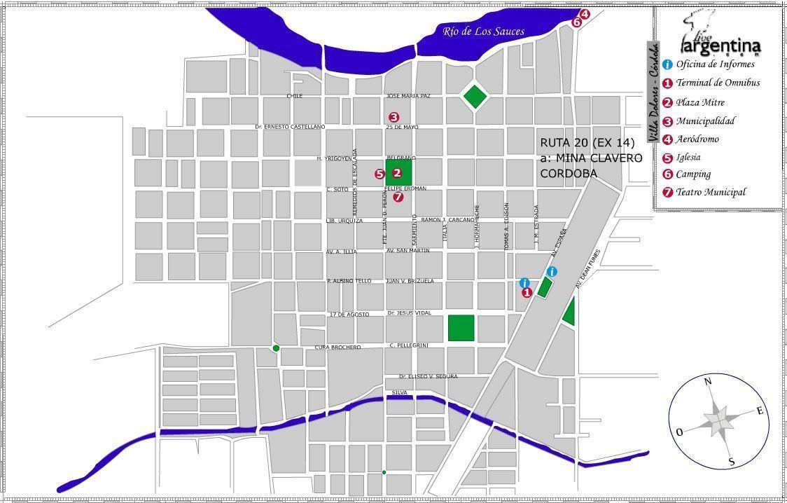 Mapa de Villa Dolores