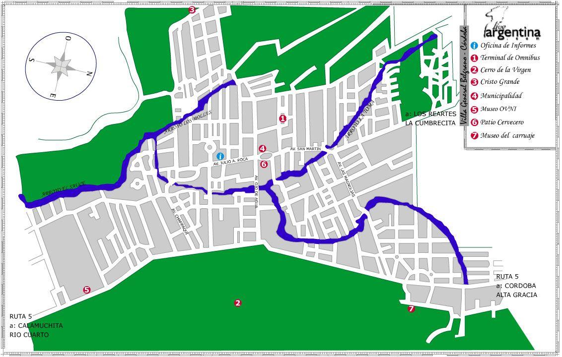 Mapa de Villa General Belgrano