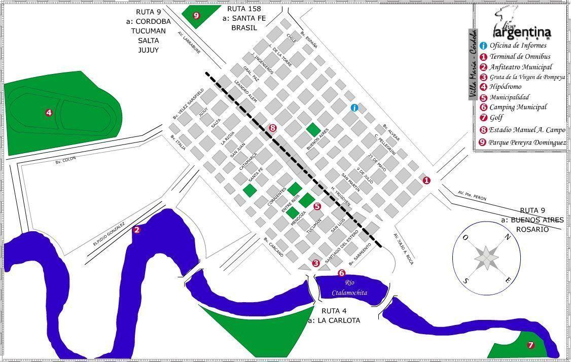 Mapa de Villa María