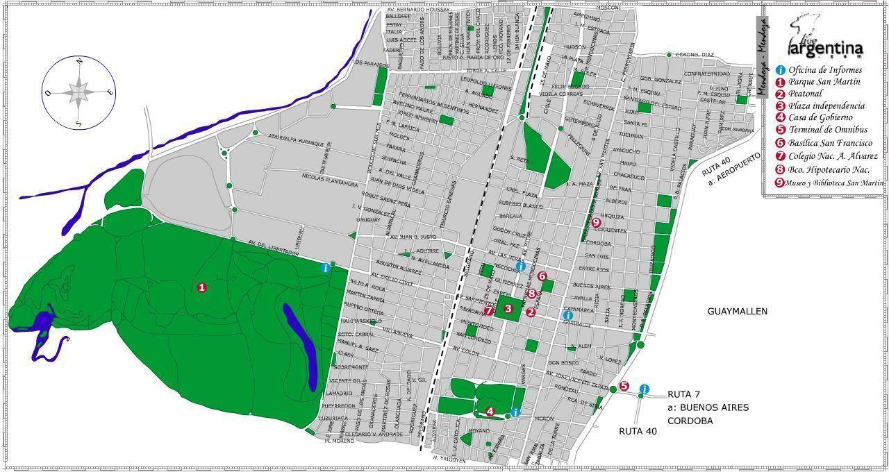 Mapa de Mendoza