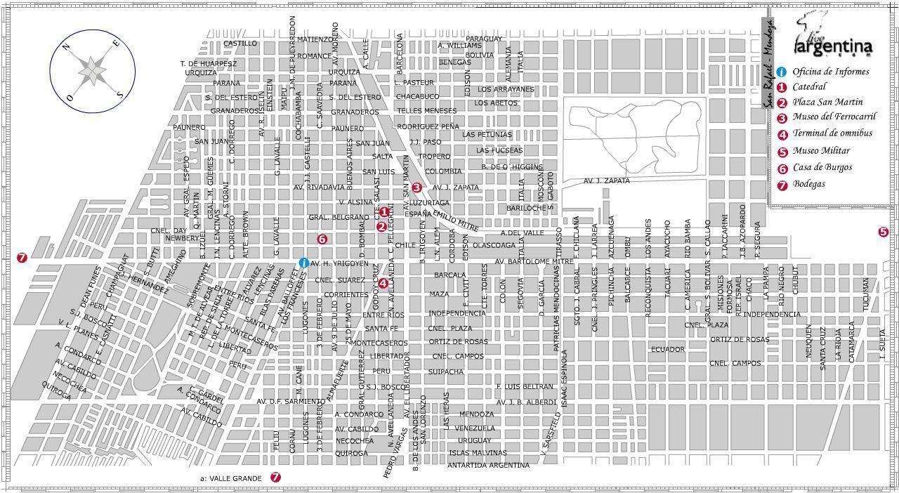 Mapa de San Rafael