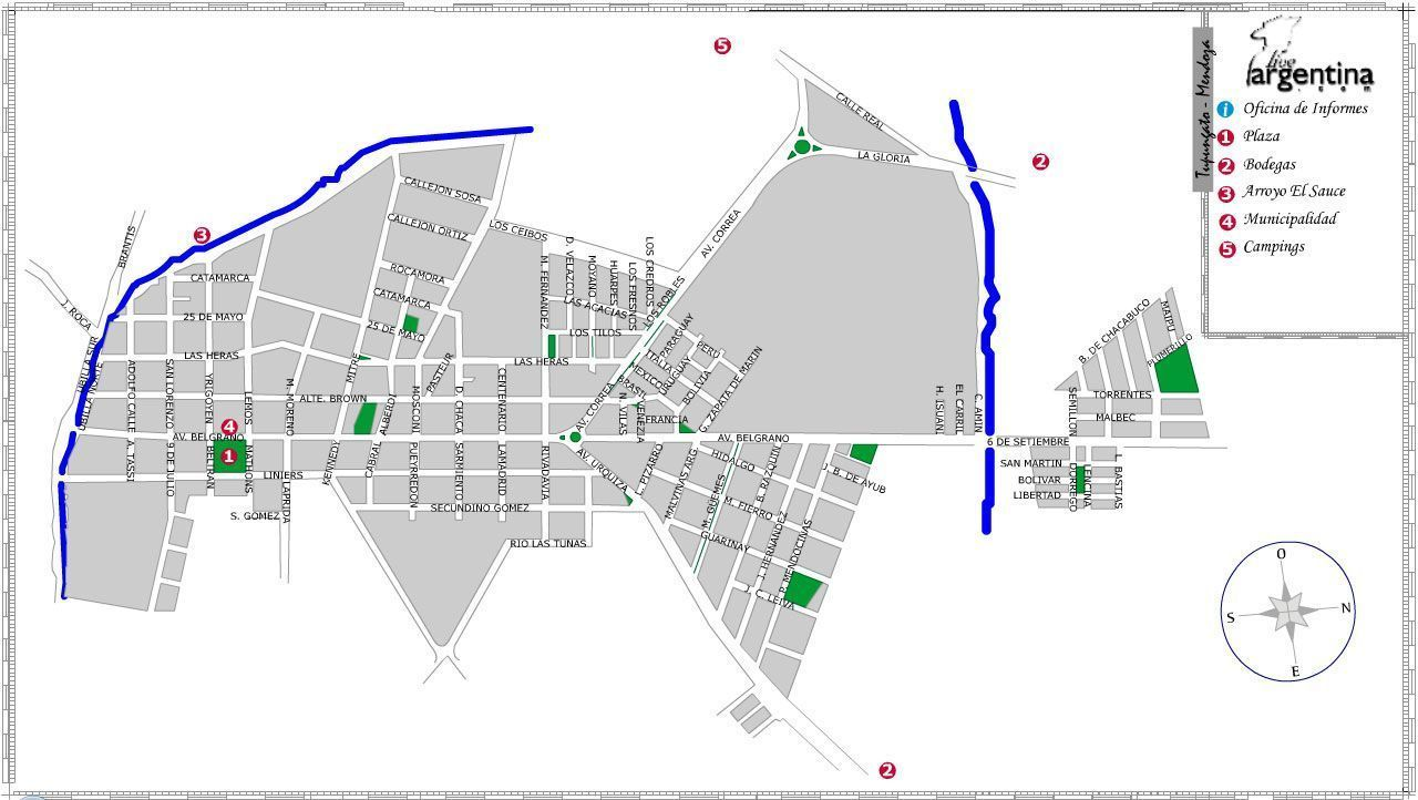 Mapa de Tupungato