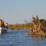 Familia en Laguna Ibera Lado Río Corriente