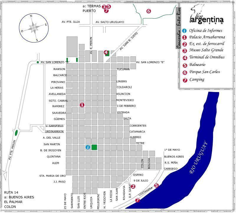 Mapa de Concordia