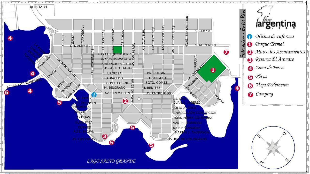Mapa de Federacion