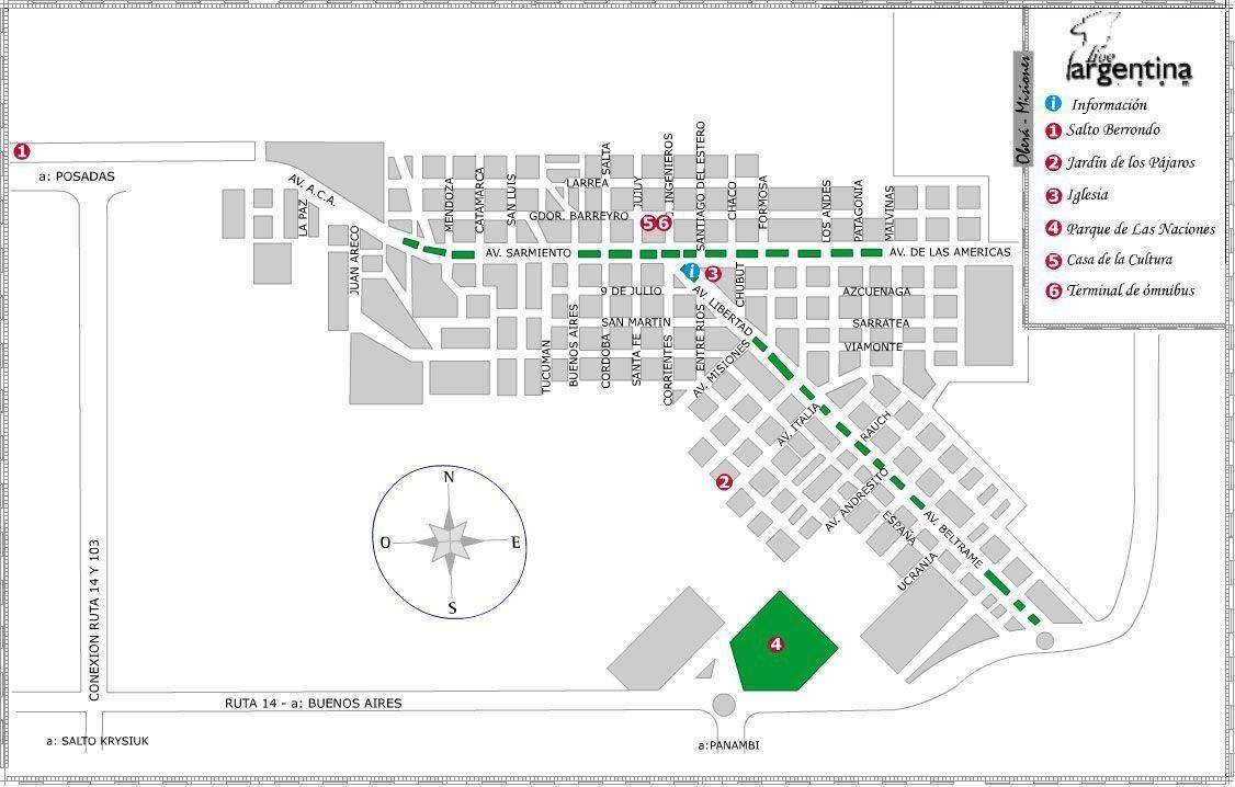 Mapa de Obera