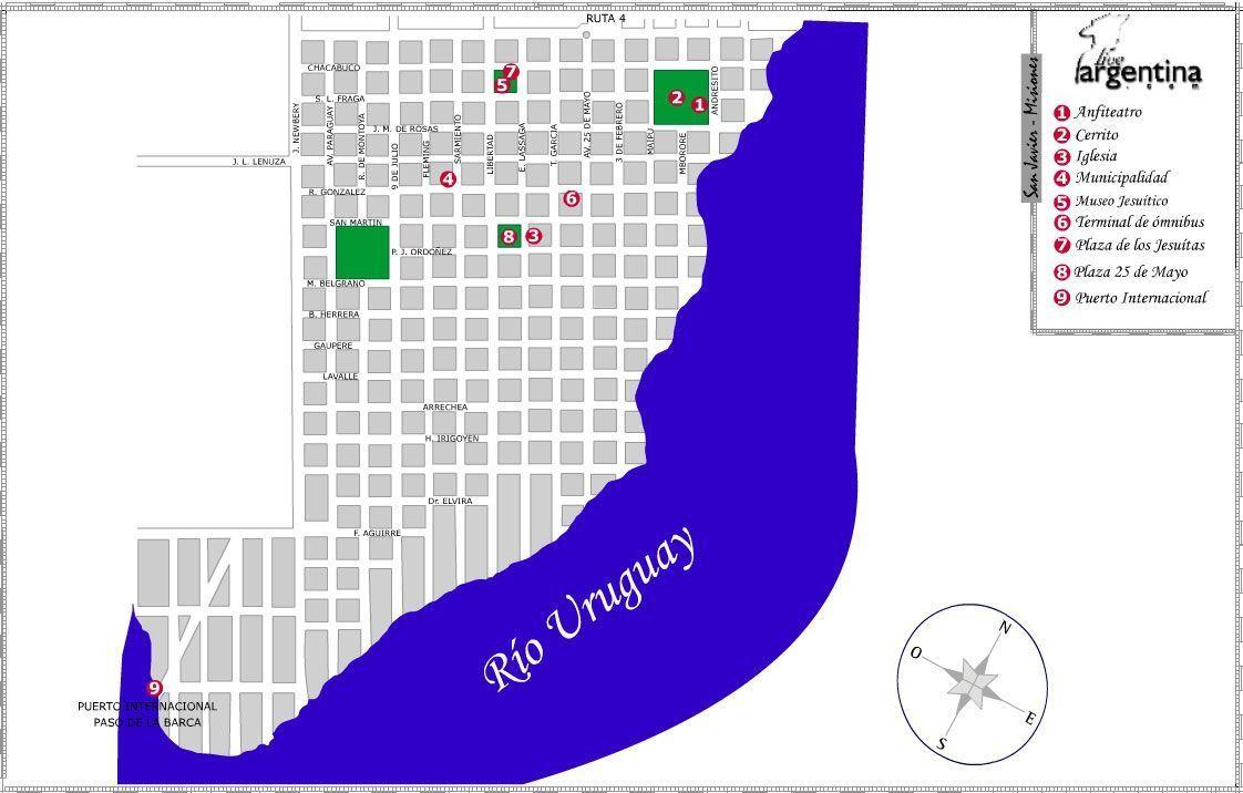 Mapa de San Javier