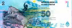 50 Pesos Malvinas Reverso