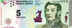 Billete 5 Pesos 2015