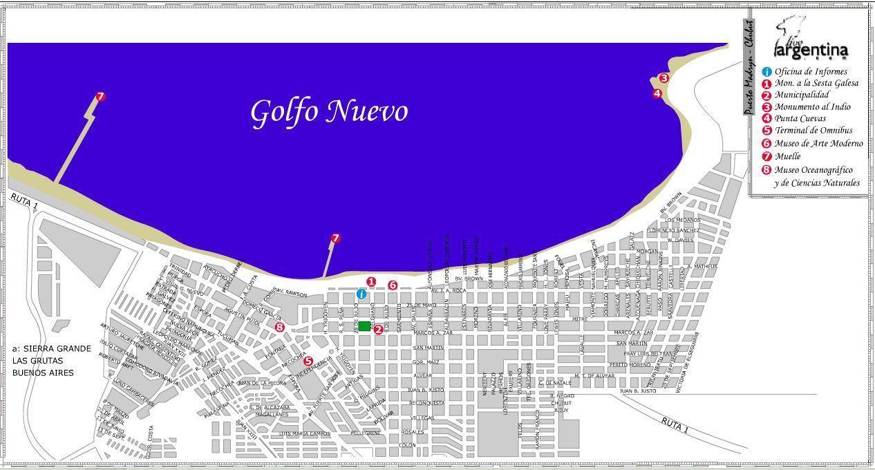 Mapa de Puerto Madryn