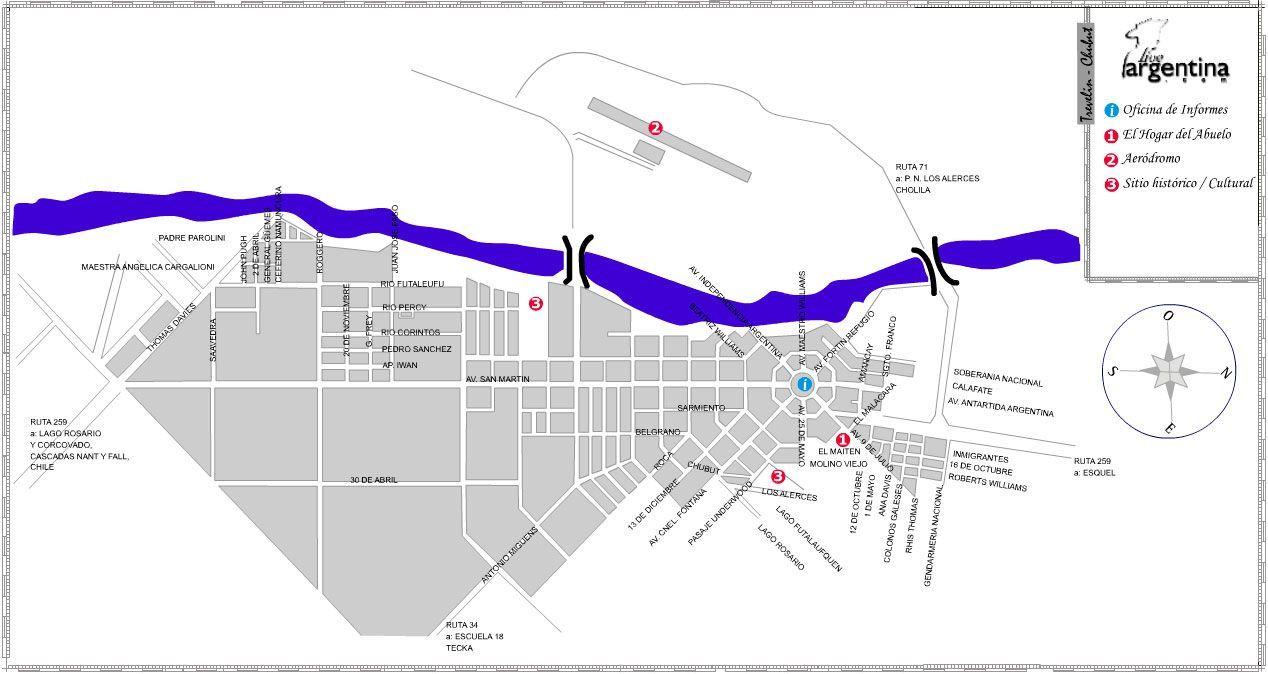 Mapa de Trevelin