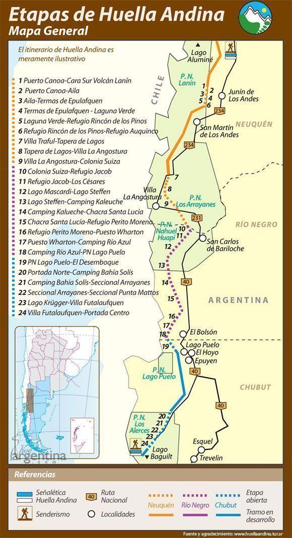 Mapa de la Huella Andina