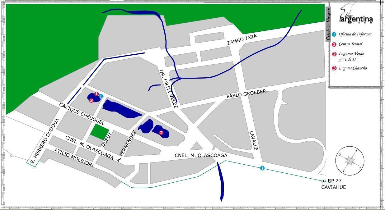 Mapa de Copahue