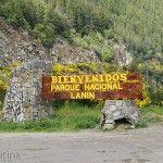 Cartel Parque Nacional Lanin