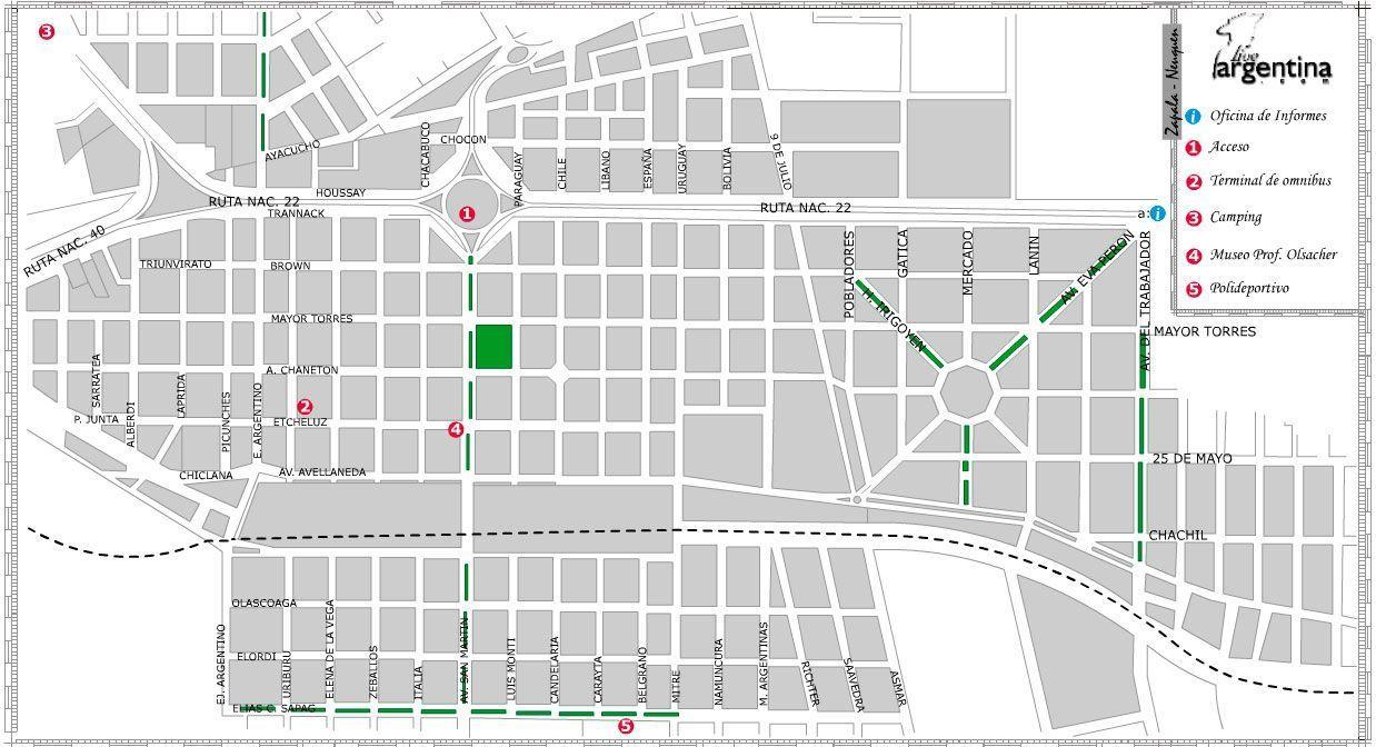 Mapa de Zapala
